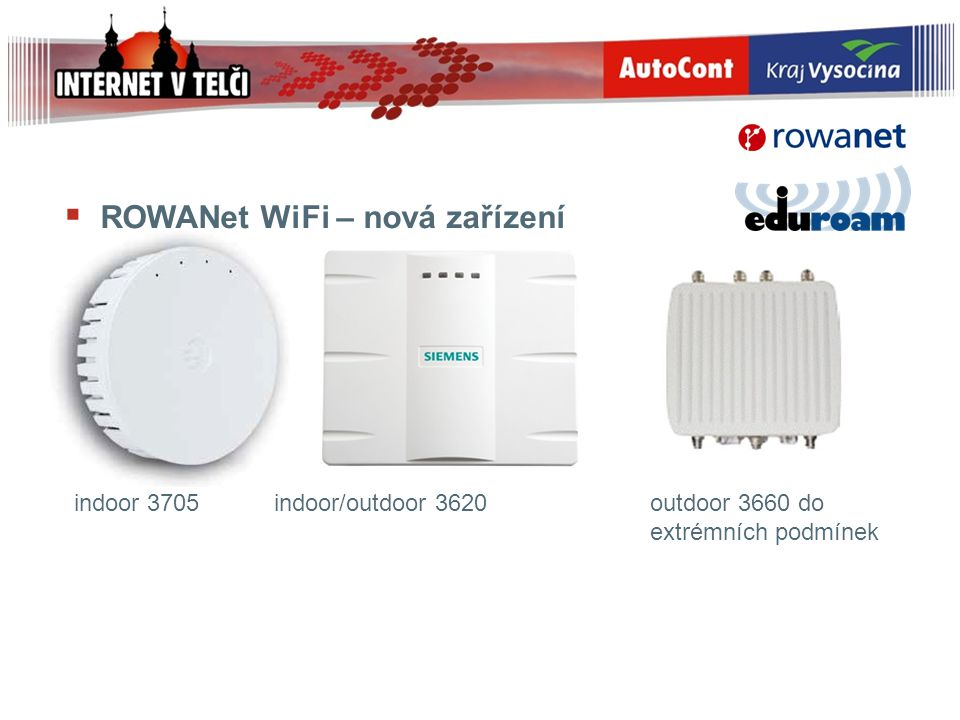 ROWANet WiFi – nová zařízení