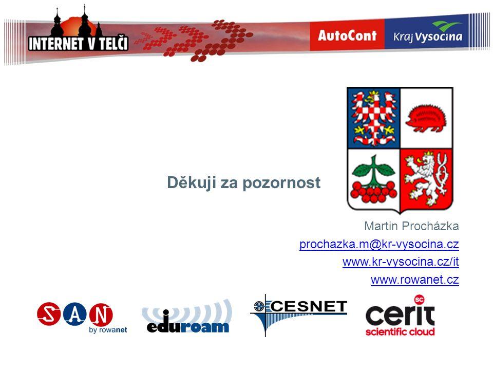 Děkuji za pozornost Martin Procházka prochazka.m@kr-vysocina.cz