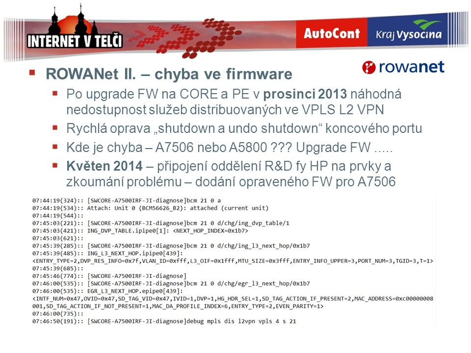 ROWANet II. – chyba ve firmware