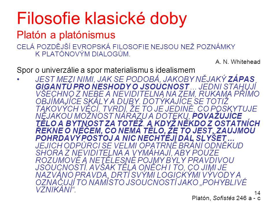 Filosofie klasické doby Platón a platónismus