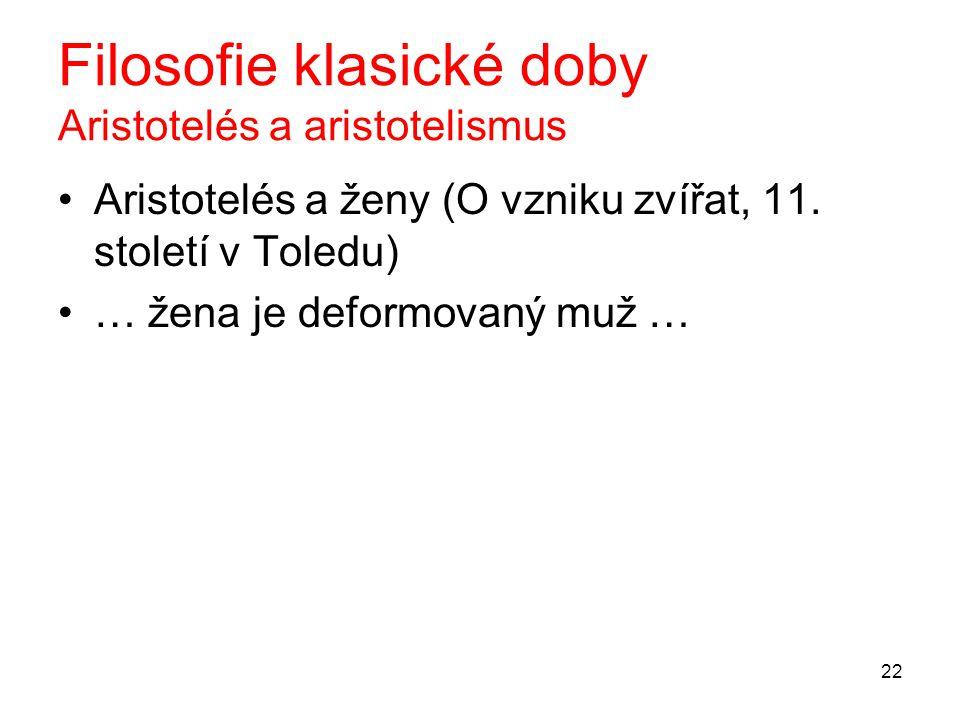 Filosofie klasické doby Aristotelés a aristotelismus