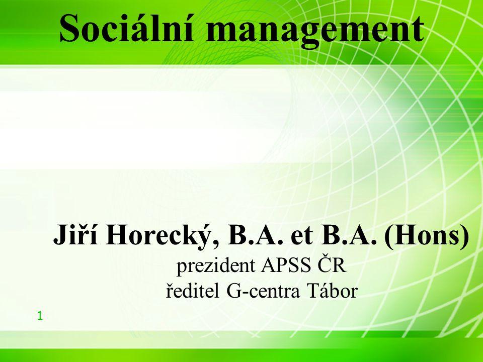 Jiří Horecký, B.A. et B.A. (Hons)