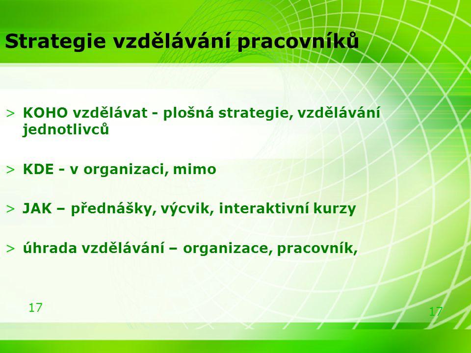 Strategie vzdělávání pracovníků