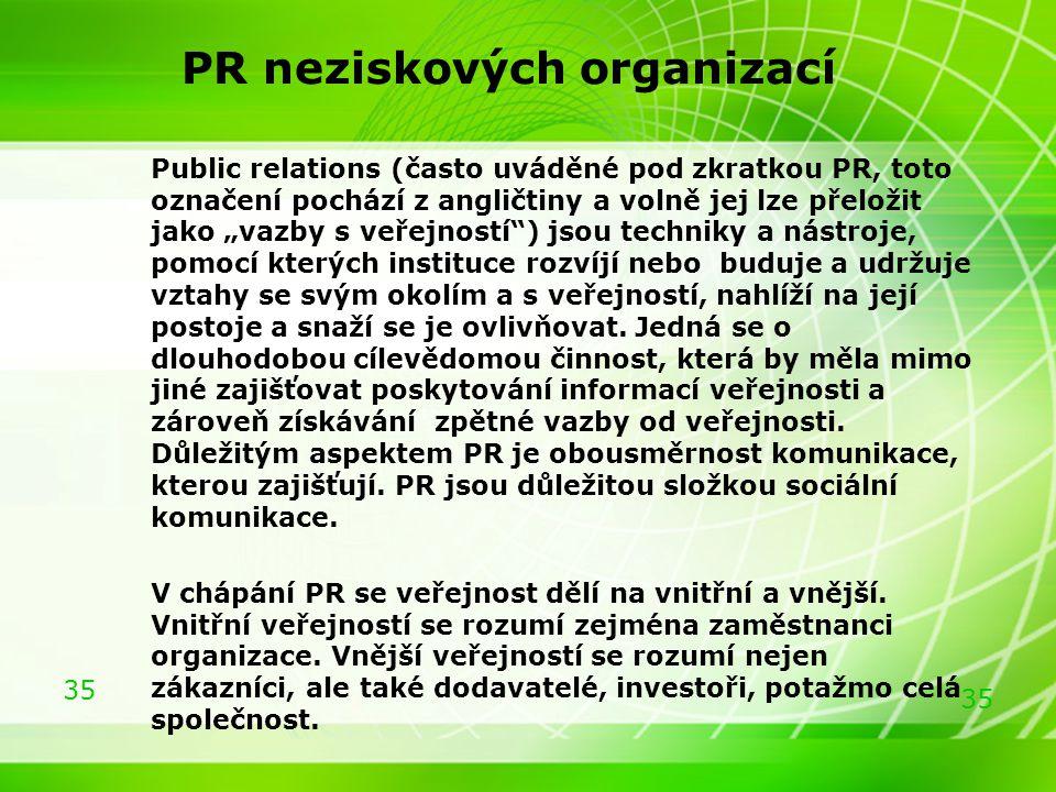 PR neziskových organizací