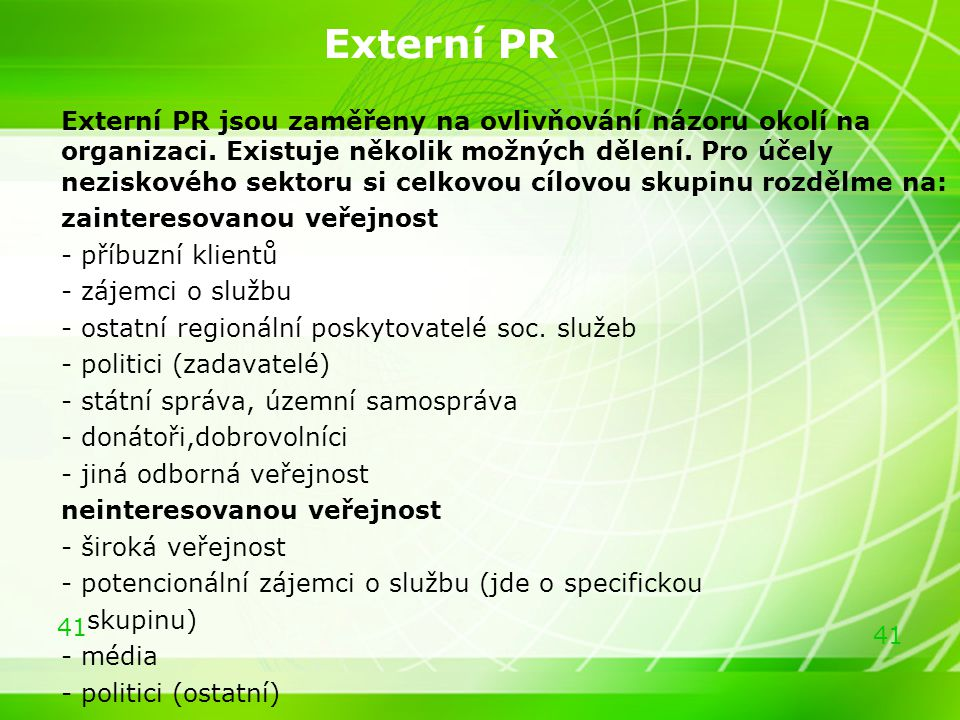 Externí PR