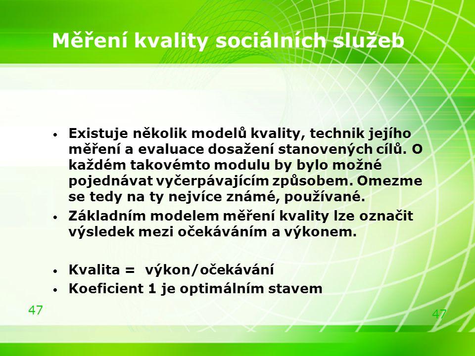 Měření kvality sociálních služeb