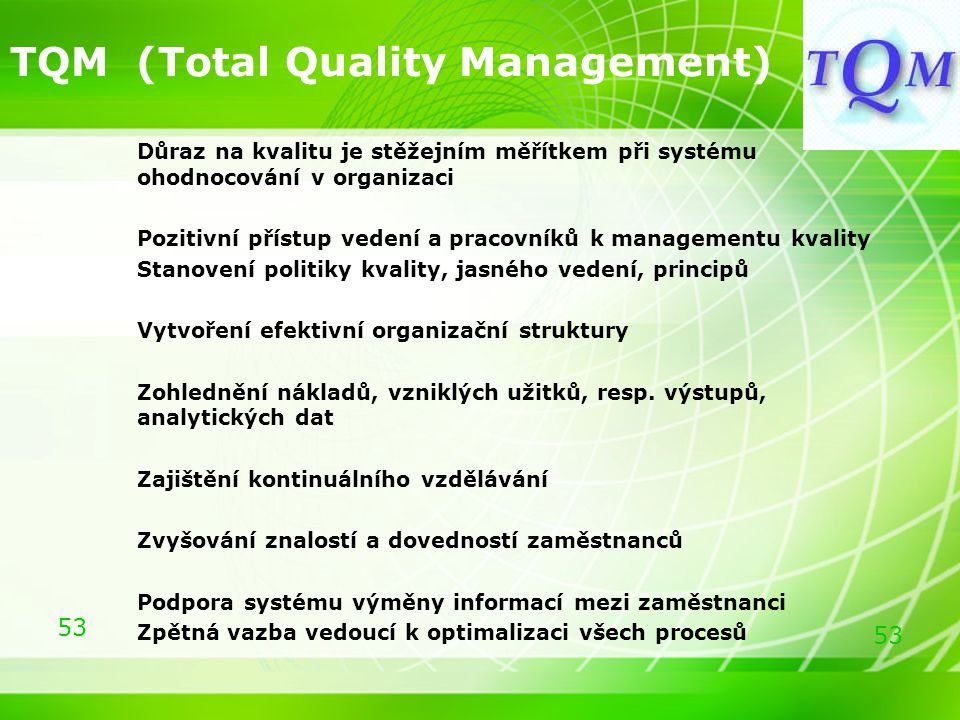 TQM (Total Quality Management)