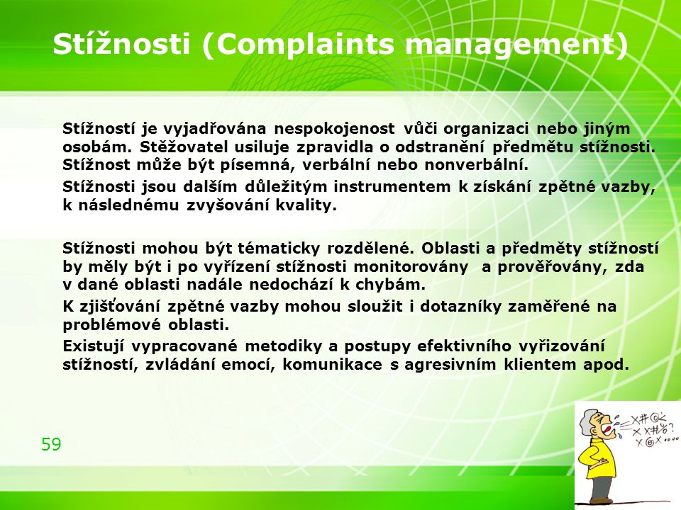 Stížnosti (Complaints management)