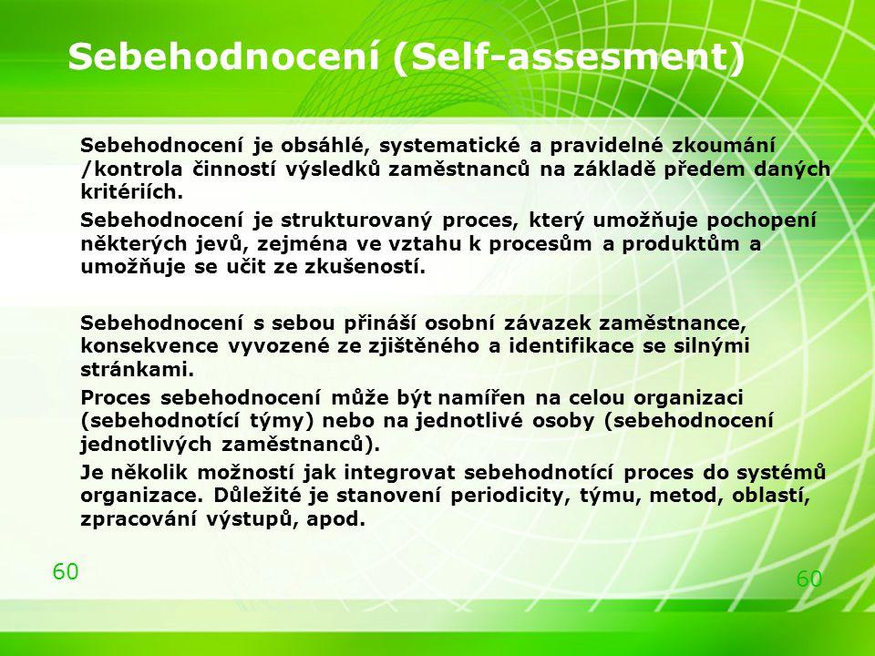 Sebehodnocení (Self-assesment)