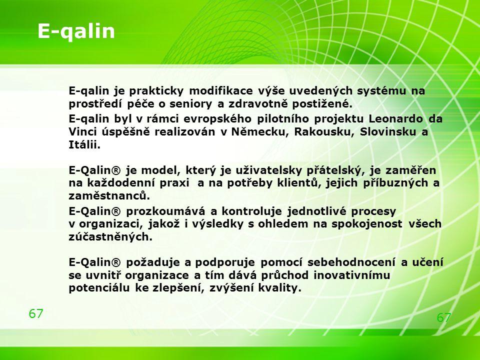 E-qalin E-qalin je prakticky modifikace výše uvedených systému na prostředí péče o seniory a zdravotně postižené.