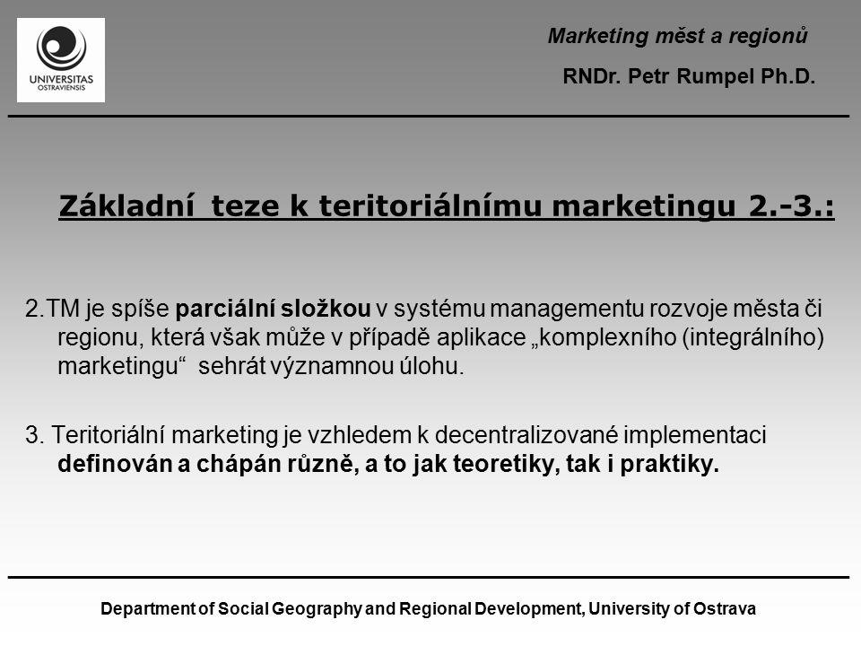Základní teze k teritoriálnímu marketingu 2.-3.: