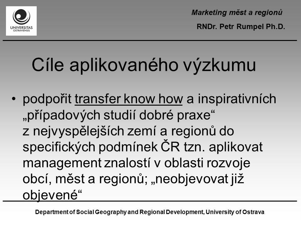 Cíle aplikovaného výzkumu