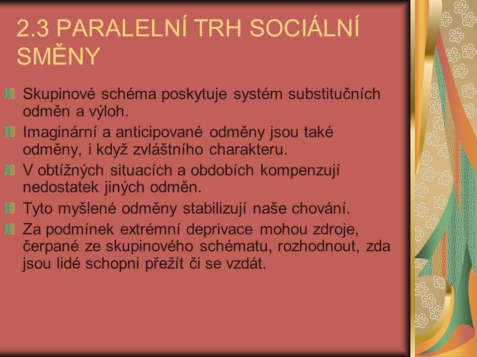 2.3 PARALELNÍ TRH SOCIÁLNÍ SMĚNY