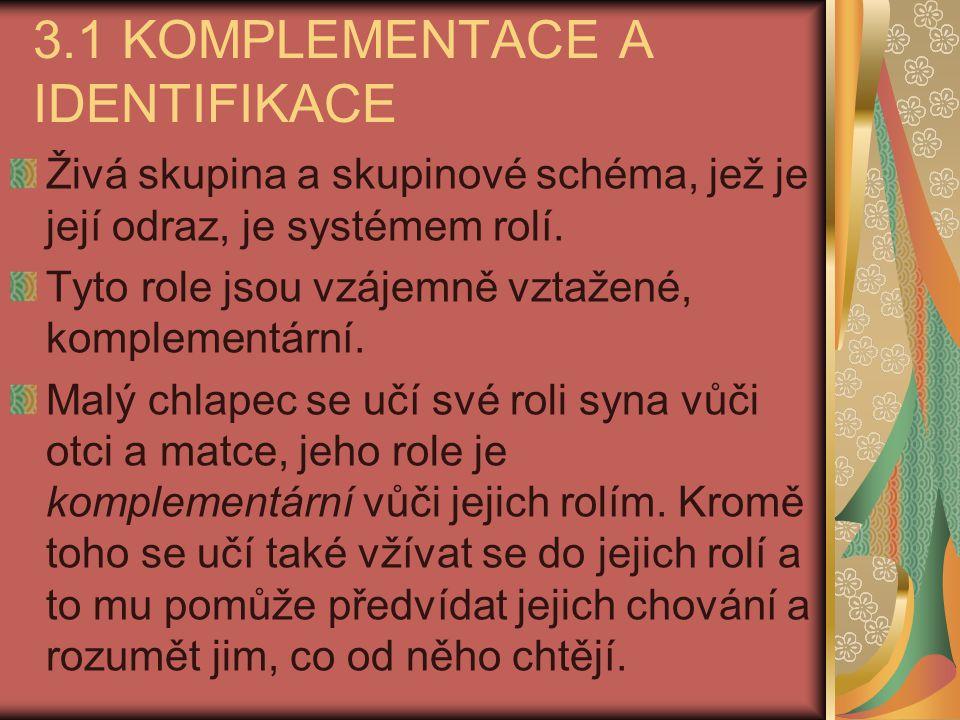 3.1 KOMPLEMENTACE A IDENTIFIKACE