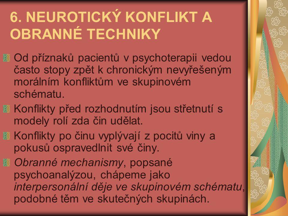 6. NEUROTICKÝ KONFLIKT A OBRANNÉ TECHNIKY