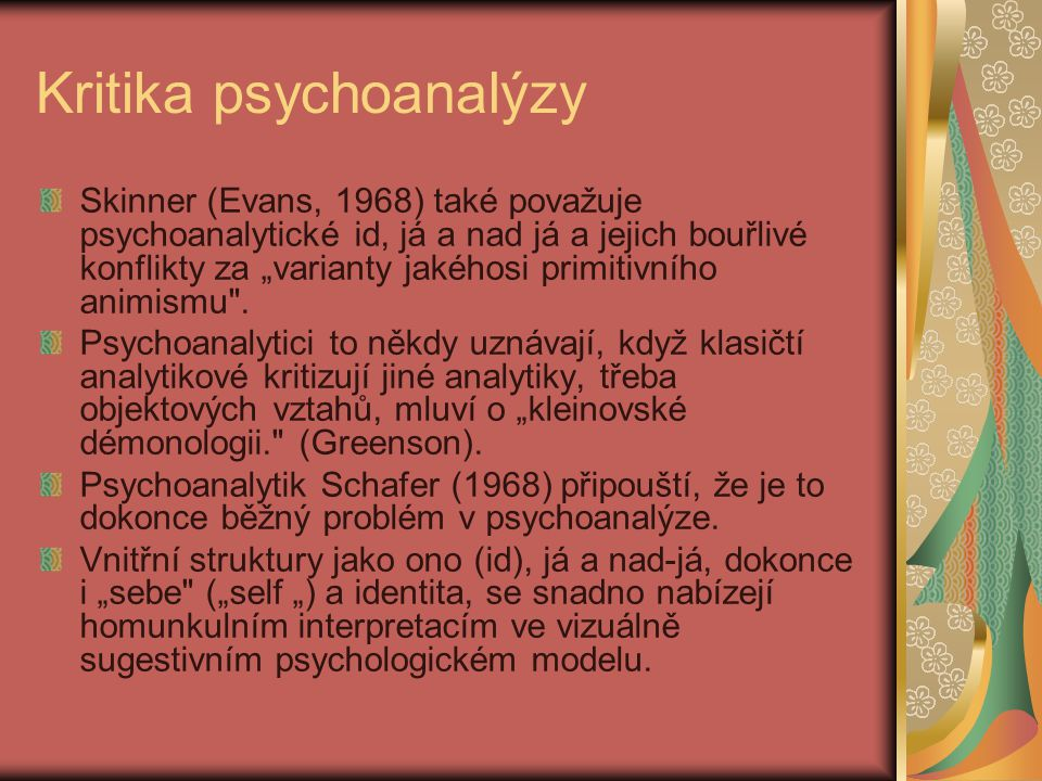Kritika psychoanalýzy