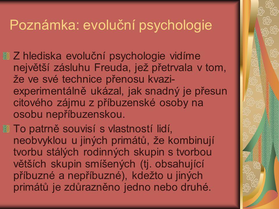 Poznámka: evoluční psychologie