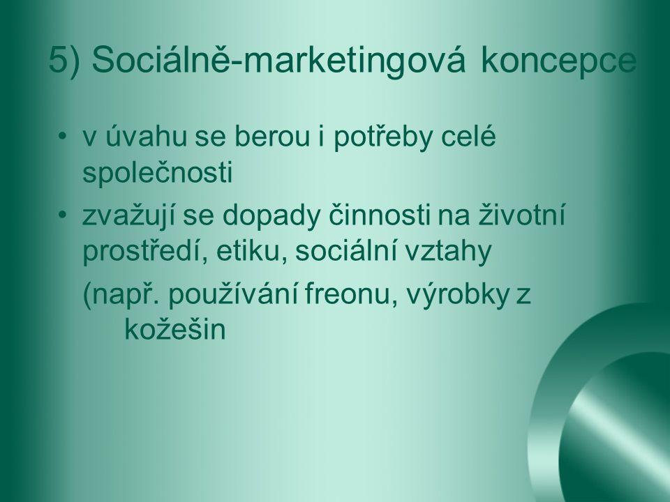 5) Sociálně-marketingová koncepce