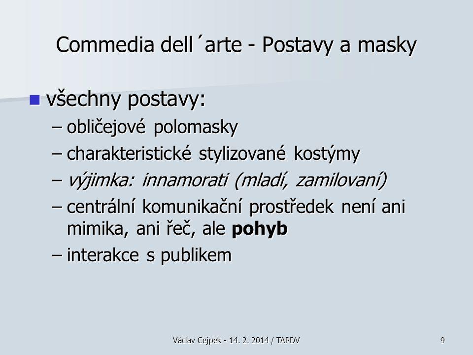 Commedia dell´arte - Postavy a masky