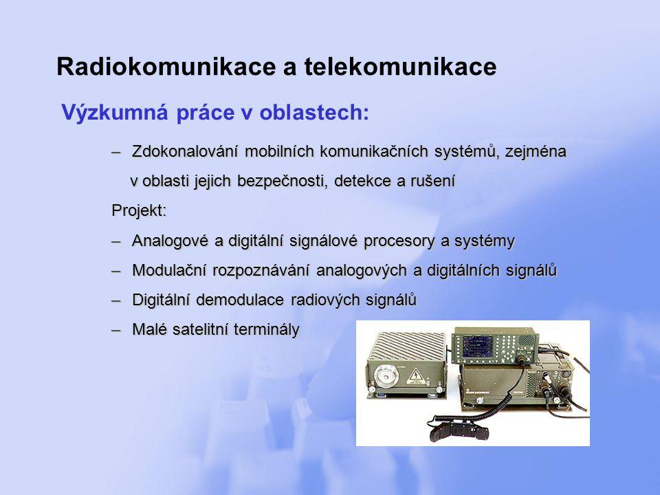 Radiokomunikace a telekomunikace