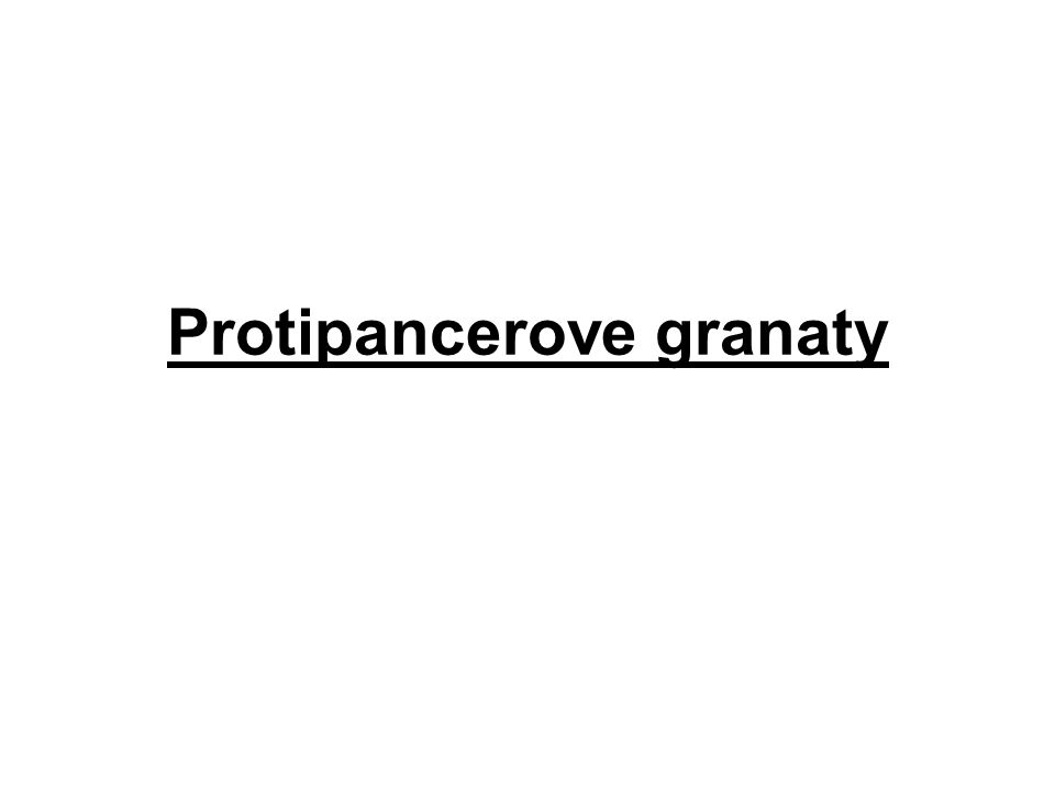 Protipancerove granaty