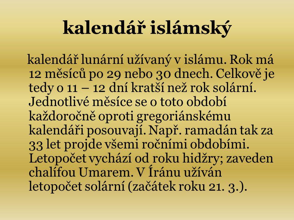 kalendář islámský