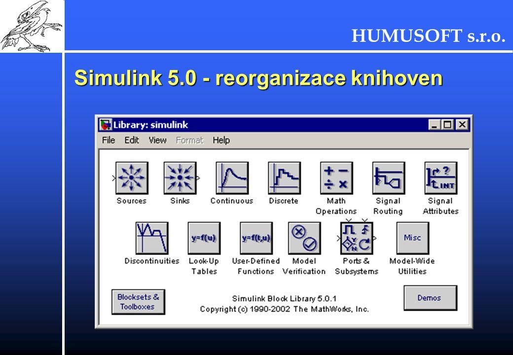 Simulink 5.0 - reorganizace knihoven