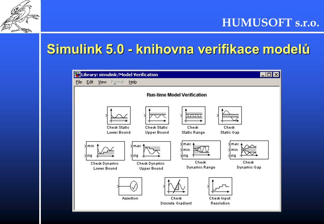 Simulink 5.0 - knihovna verifikace modelů