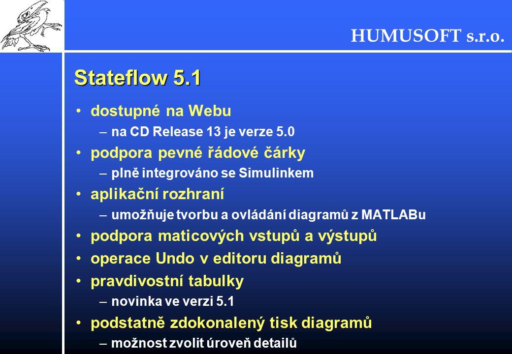 Stateflow 5.1 dostupné na Webu podpora pevné řádové čárky