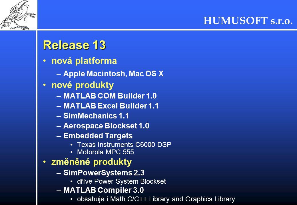 Release 13 nová platforma nové produkty změněné produkty