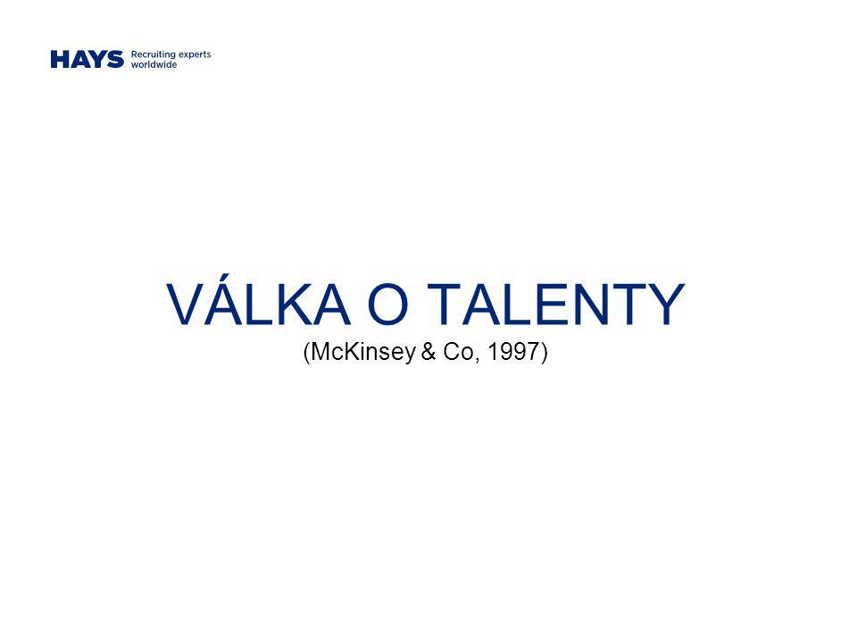 VÁLKA O TALENTY (McKinsey & Co, 1997)