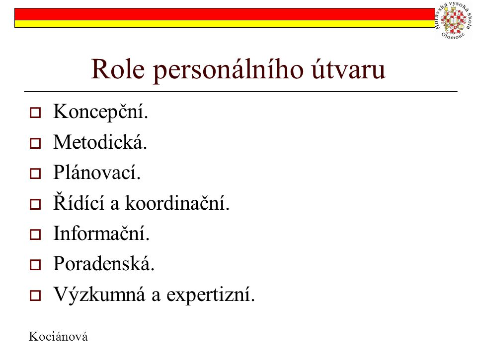 Role personálního útvaru
