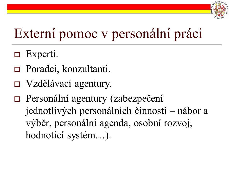 Externí pomoc v personální práci