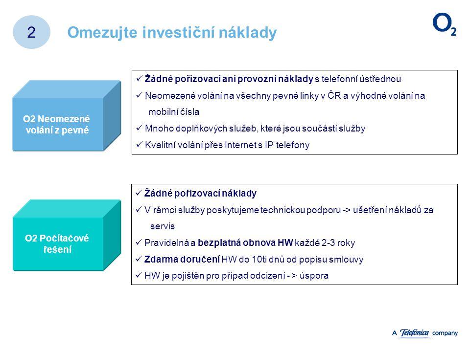 Omezujte investiční náklady 2