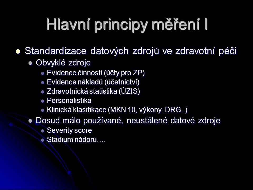 Hlavní principy měření I