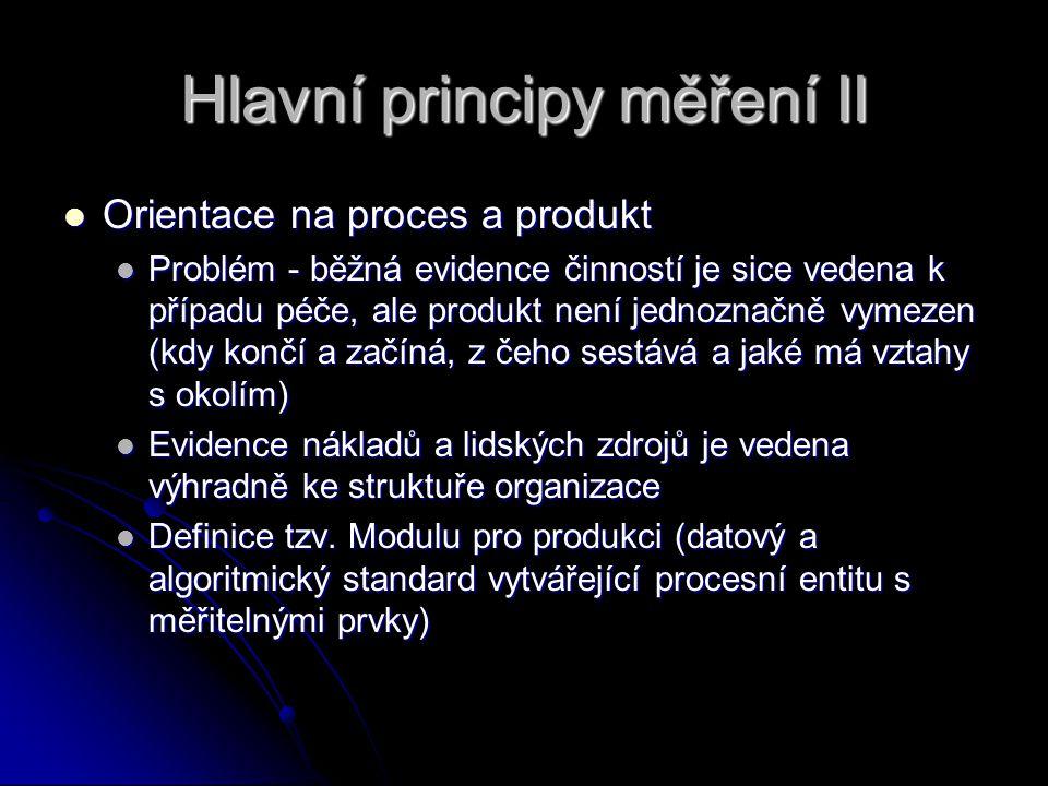 Hlavní principy měření II