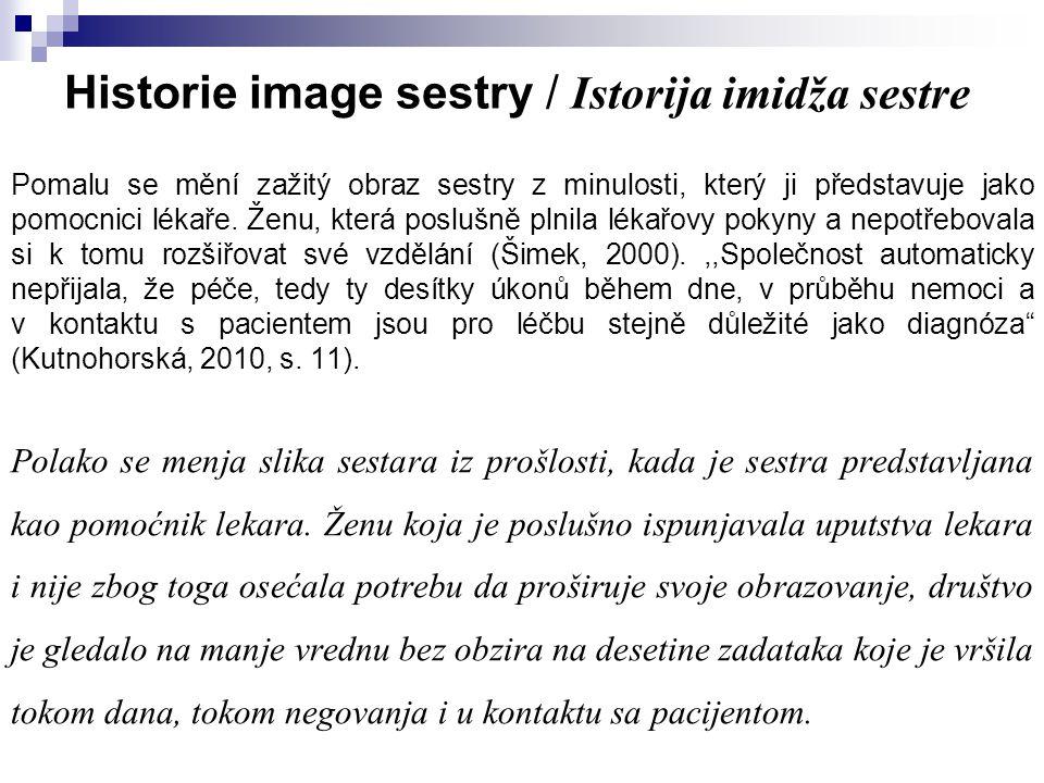 Historie image sestry / Istorija imidža sestre