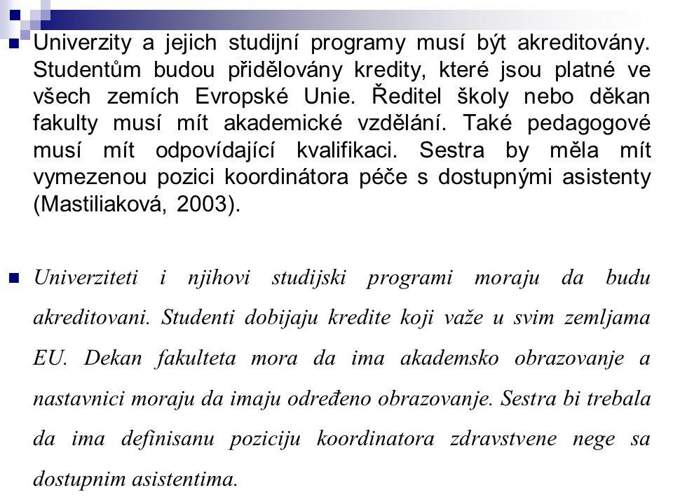 Univerzity a jejich studijní programy musí být akreditovány
