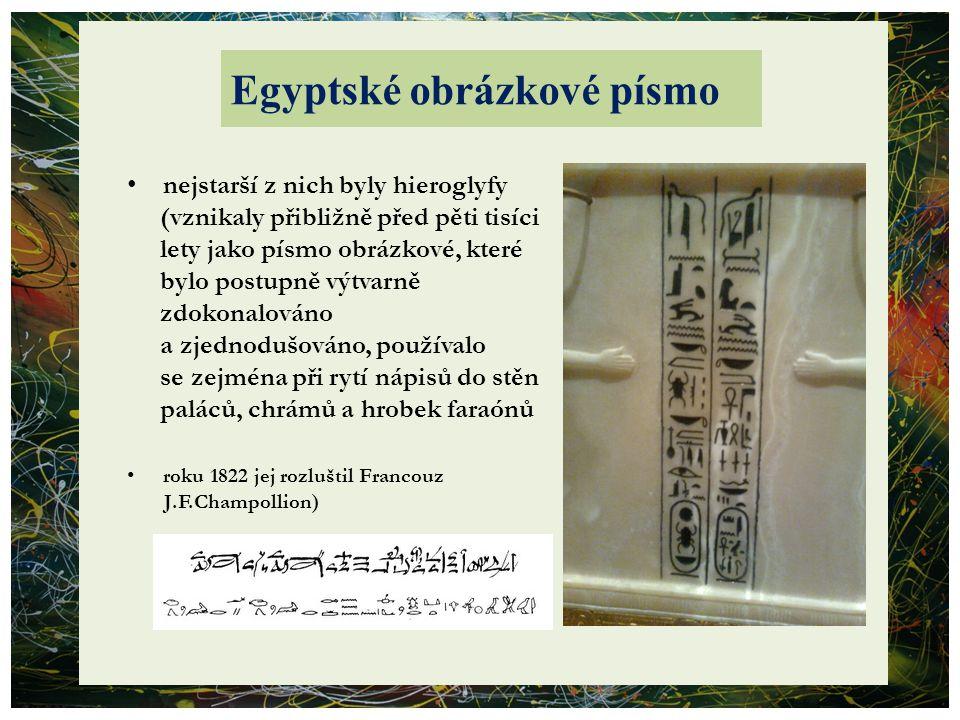 Egyptské obrázkové písmo