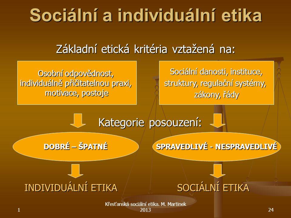 Sociální a individuální etika