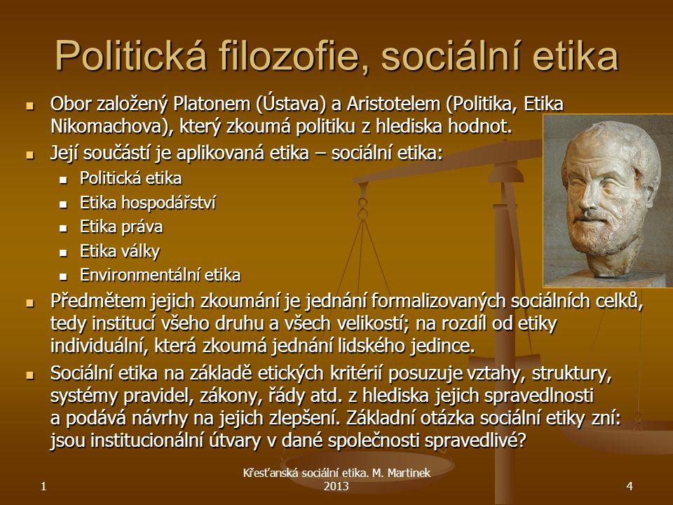 Politická filozofie, sociální etika