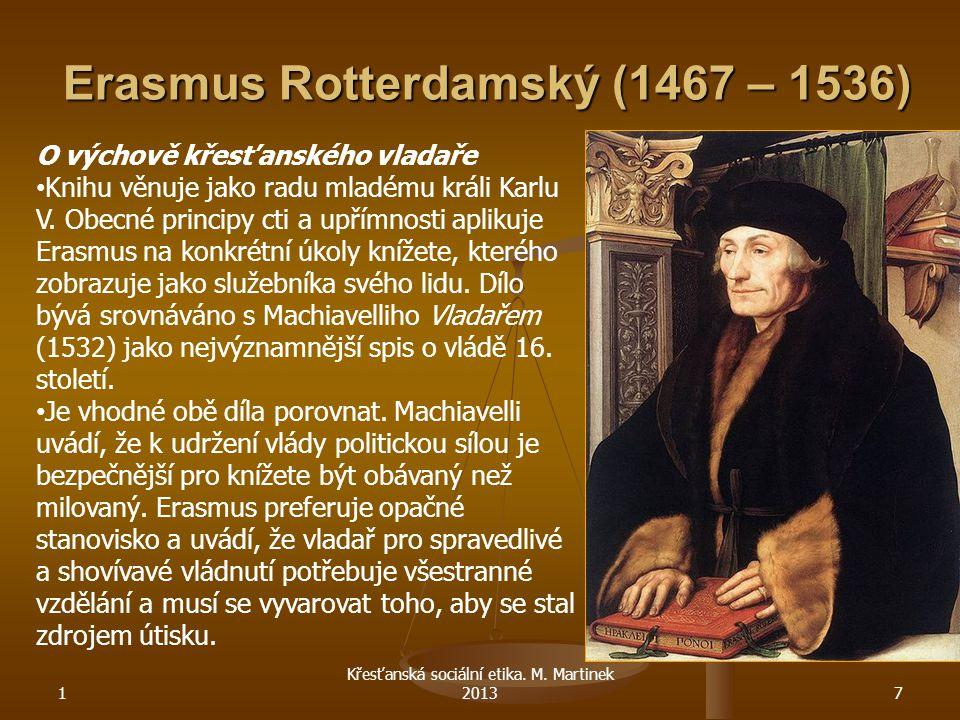 Erasmus Rotterdamský (1467 – 1536)
