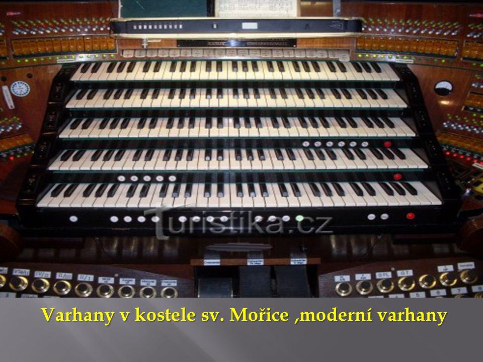 Varhany v kostele sv. Mořice ,moderní varhany