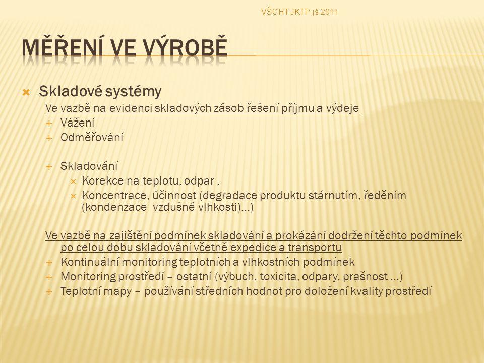 Měření ve výrobě Skladové systémy