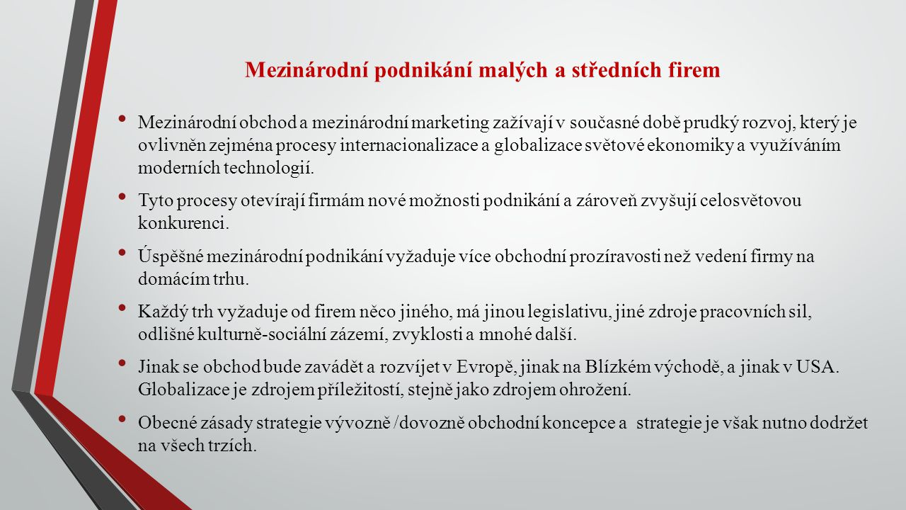 Mezinárodní podnikání malých a středních firem