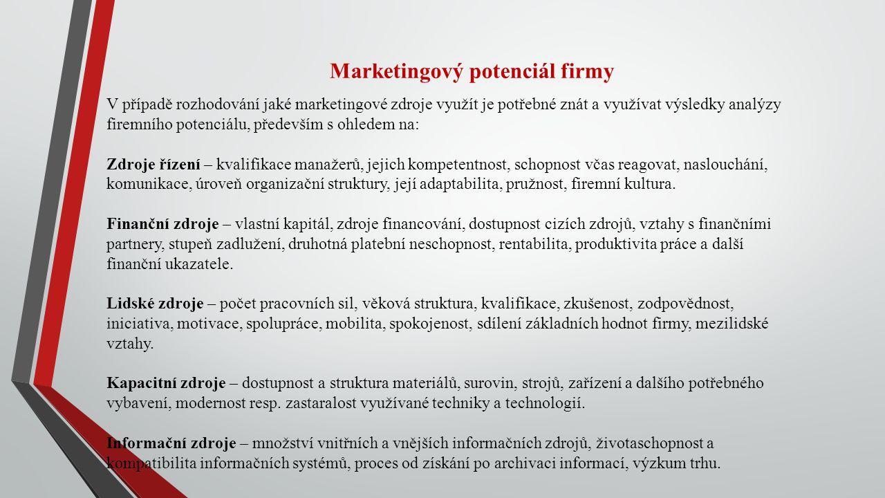 Marketingový potenciál firmy