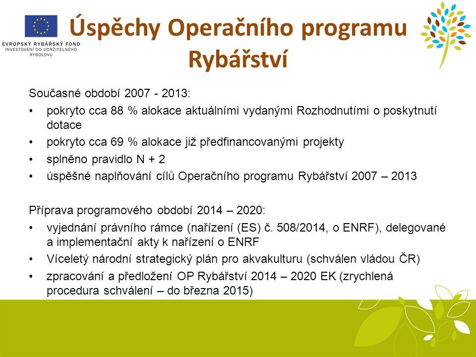 Úspěchy Operačního programu Rybářství