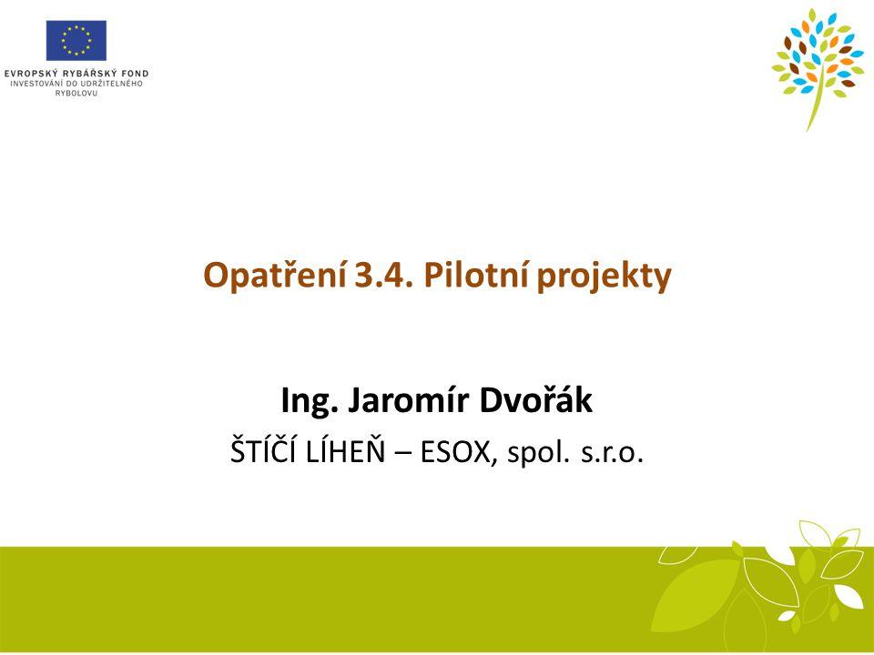 Opatření 3.4. Pilotní projekty