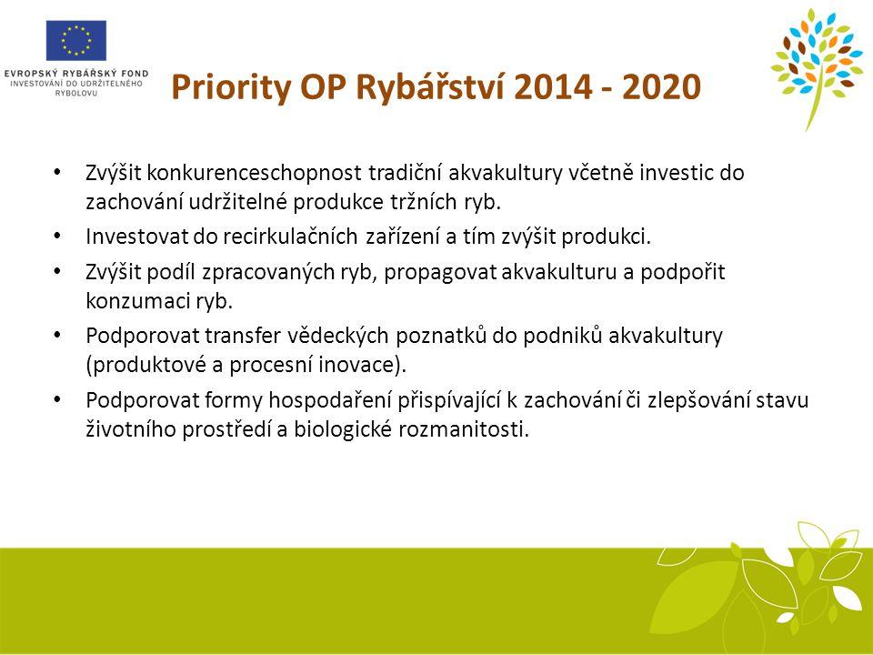 Priority OP Rybářství 2014 - 2020