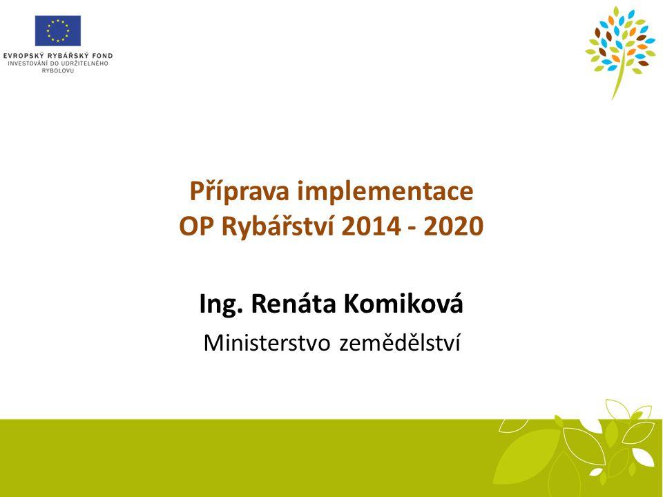 Příprava implementace OP Rybářství 2014 - 2020